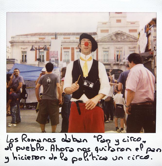 Didier. 37 años. Belga, siete años en España. Trabaja en el teatro y de clown.