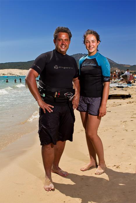 Arnie van de Ree (47 años) y su hija Rose (14 años)